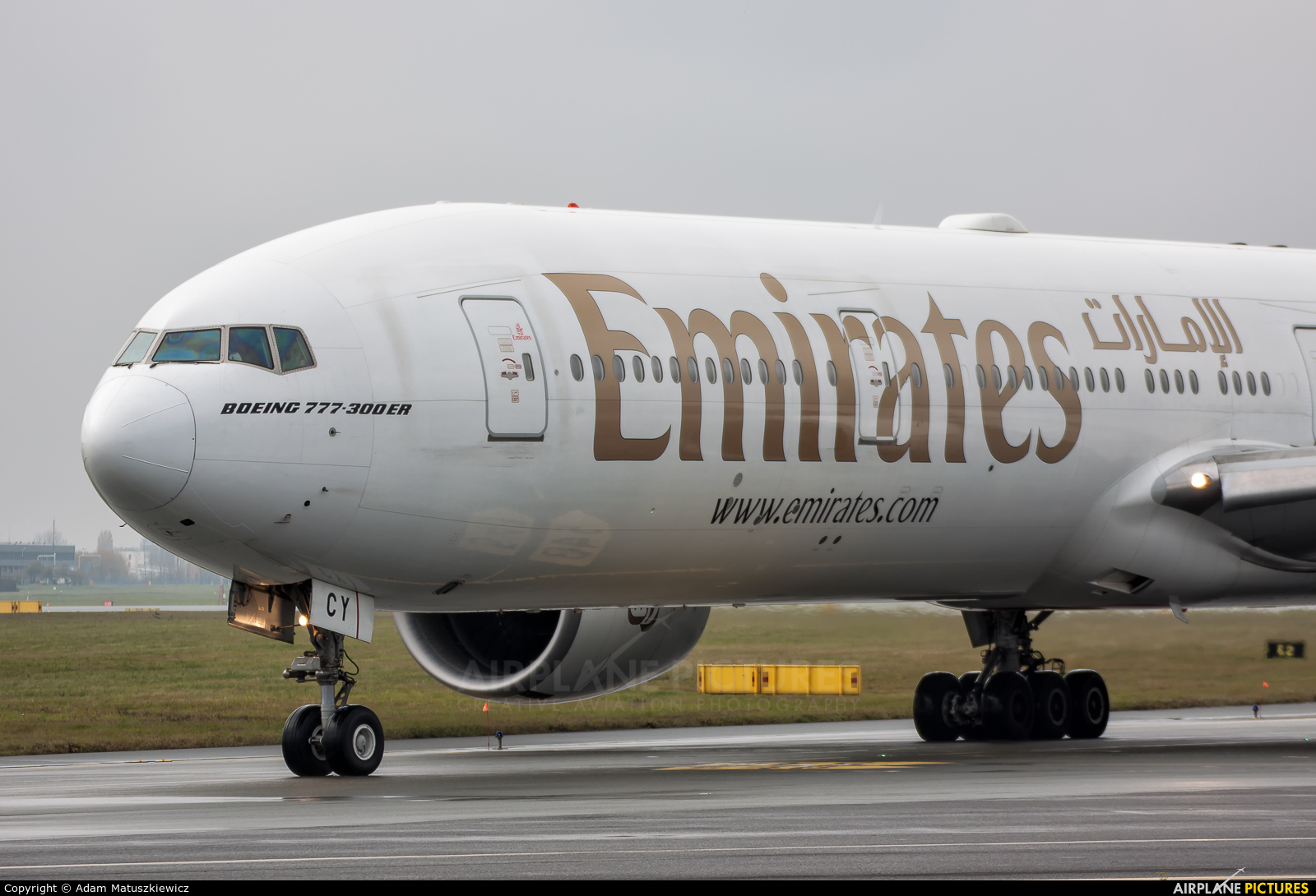 Emirates Airlines A6-ECY aircraft at Warsaw - Frederic Chopin