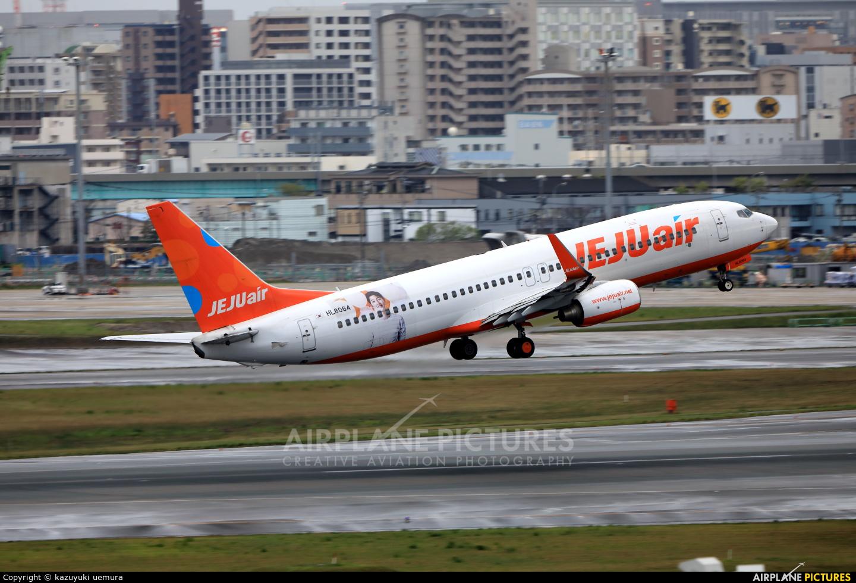 Jeju Air HL8064 aircraft at Fukuoka