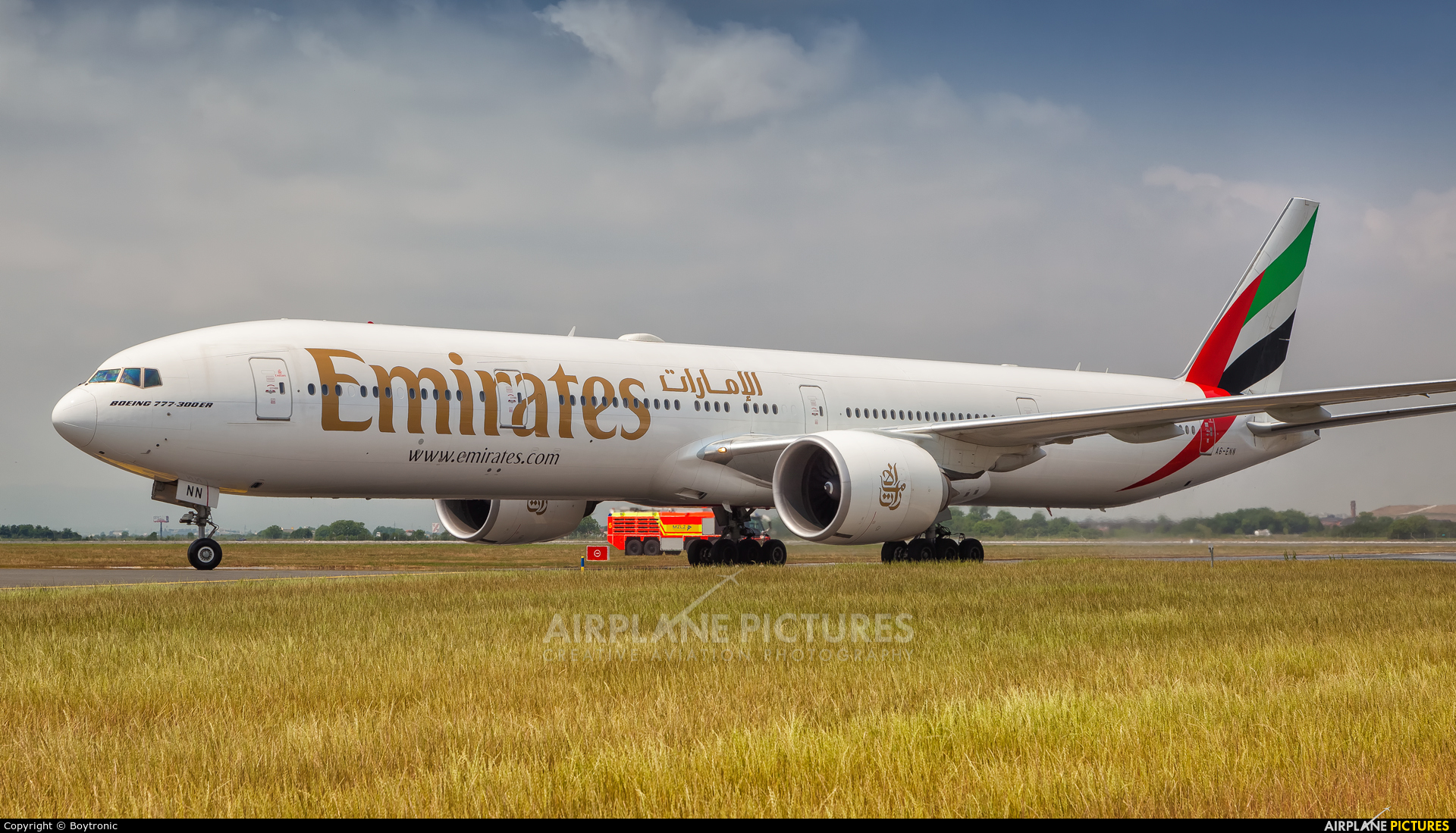 Emirates Airlines A6-ENN aircraft at Zagreb