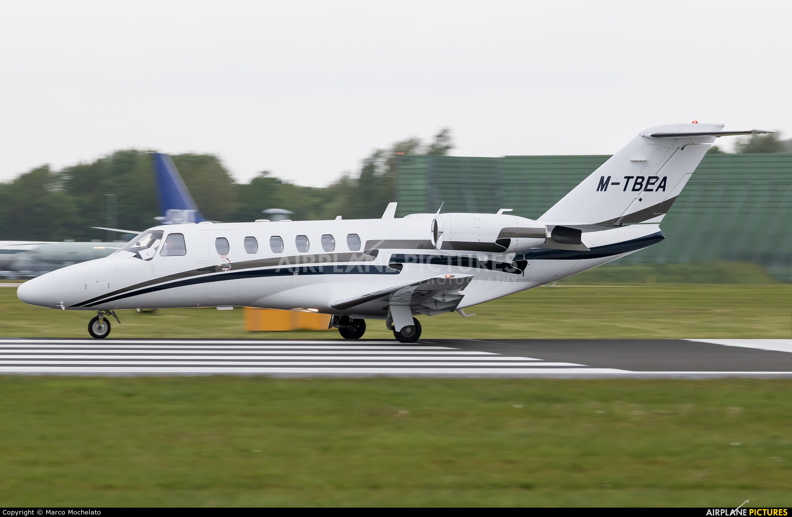 Private M-TBEA aircraft at Manchester