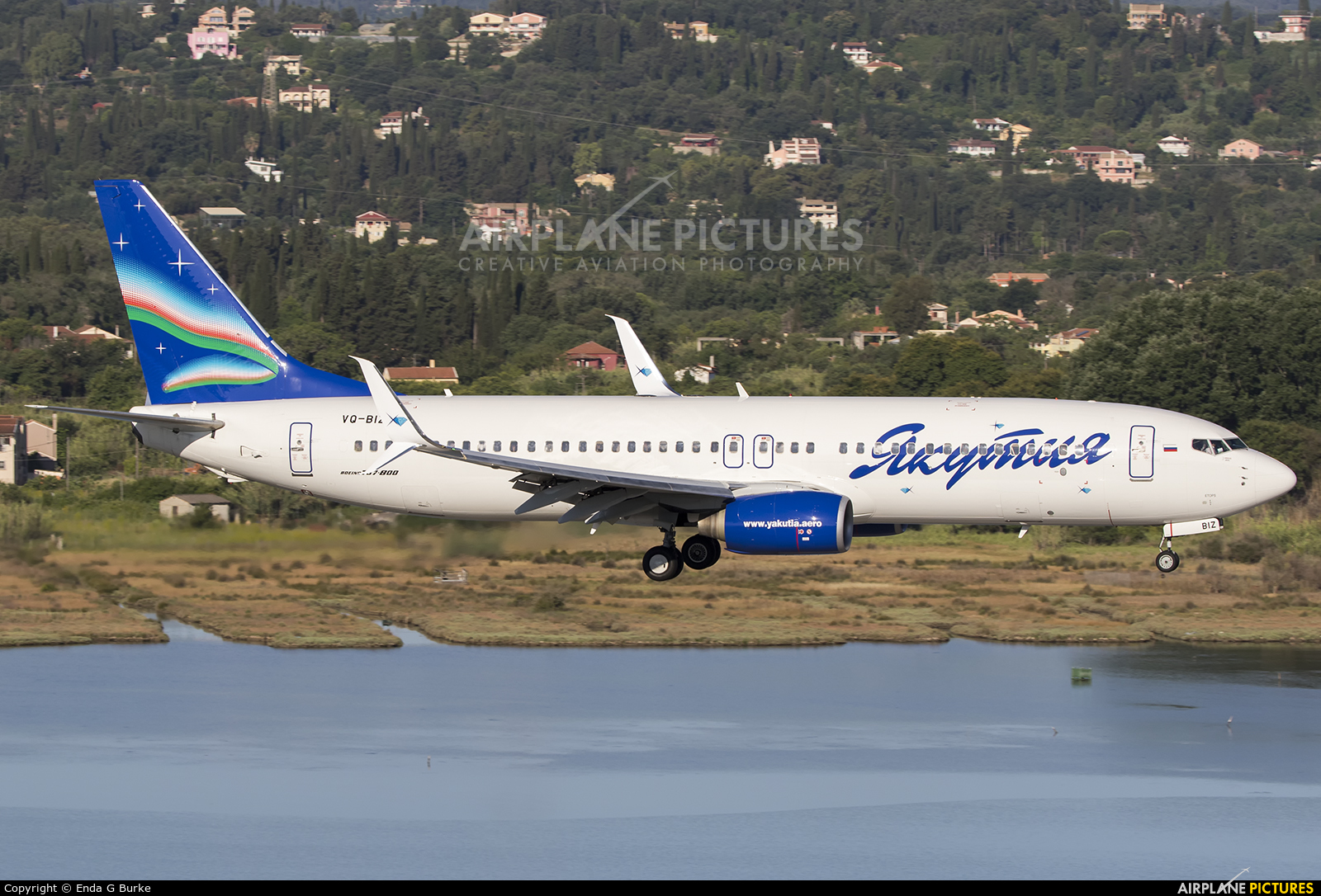 Yakutia Airlines VQ-BIZ aircraft at Corfu - Ioannis Kapodistrias