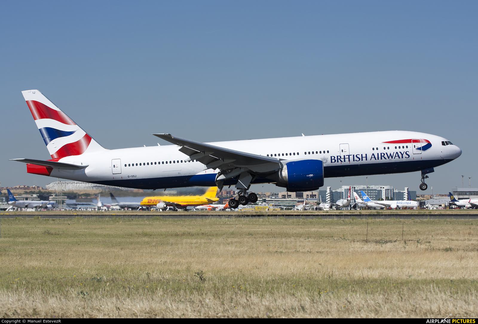 British Airways G-VIIJ aircraft at Madrid - Barajas