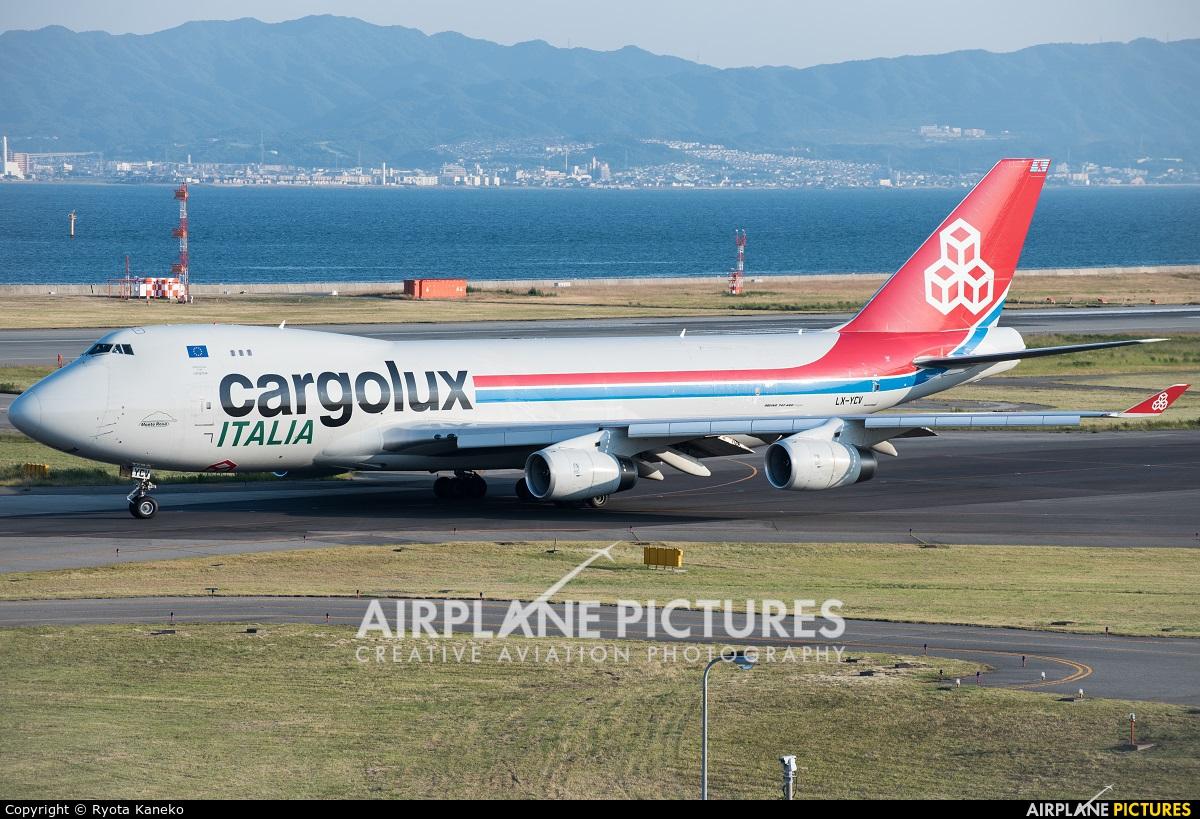 Cargolux Italia LX-YCV aircraft at Kansai Intl