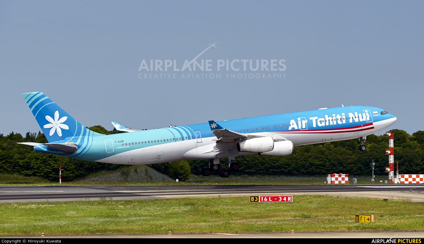 Air Tahiti Nui F-OJGF aircraft at Tokyo - Narita Intl