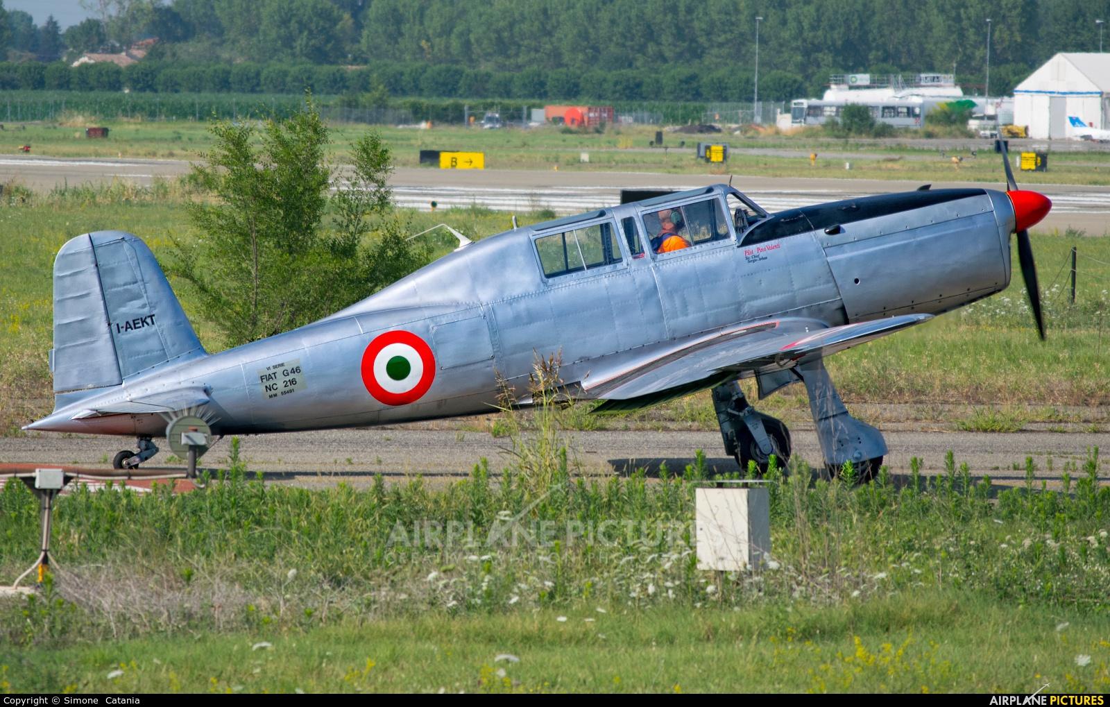 Private I-AEKT aircraft at Parma