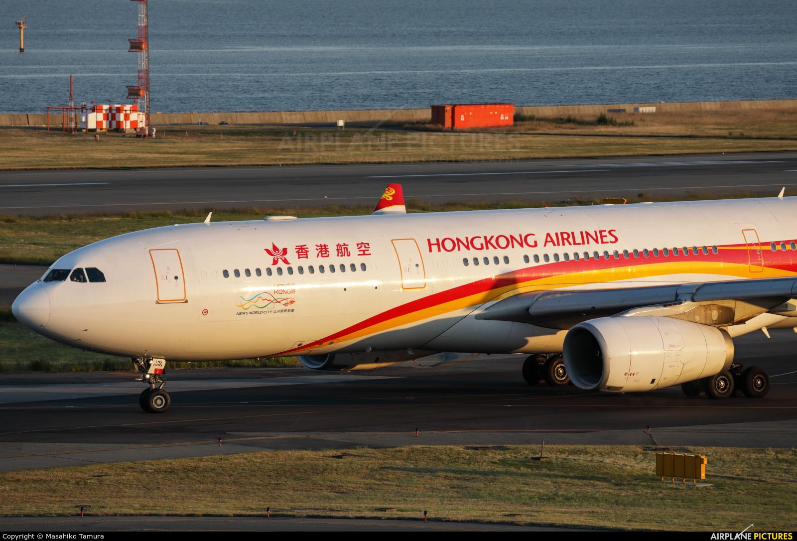 Hong Kong Airlines B-LNS aircraft at Kansai Intl