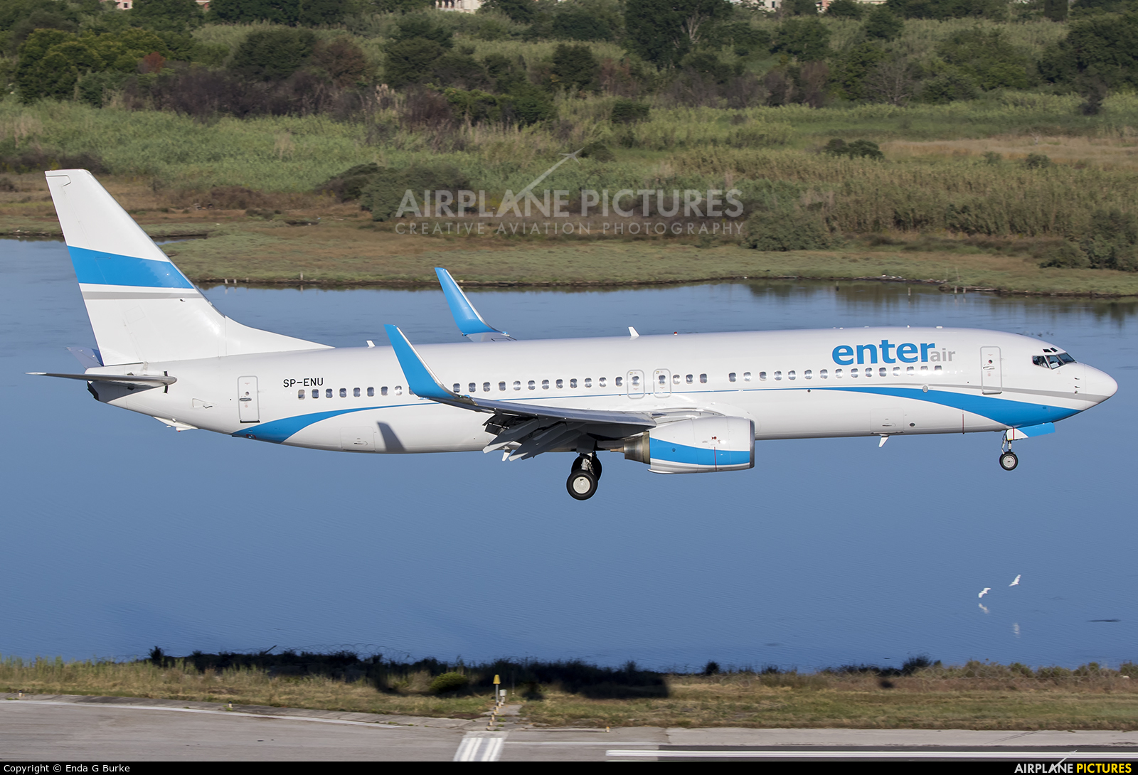 Enter Air SP-ENU aircraft at Corfu - Ioannis Kapodistrias