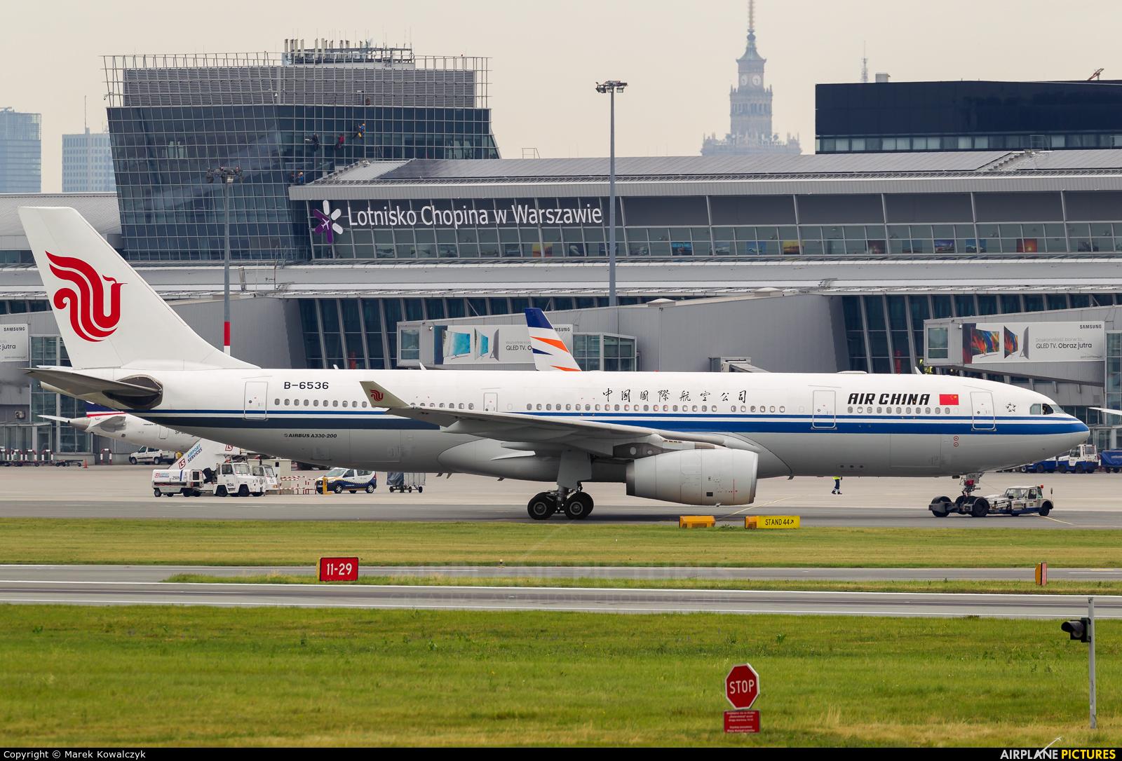 Air China B-6536 aircraft at Warsaw - Frederic Chopin