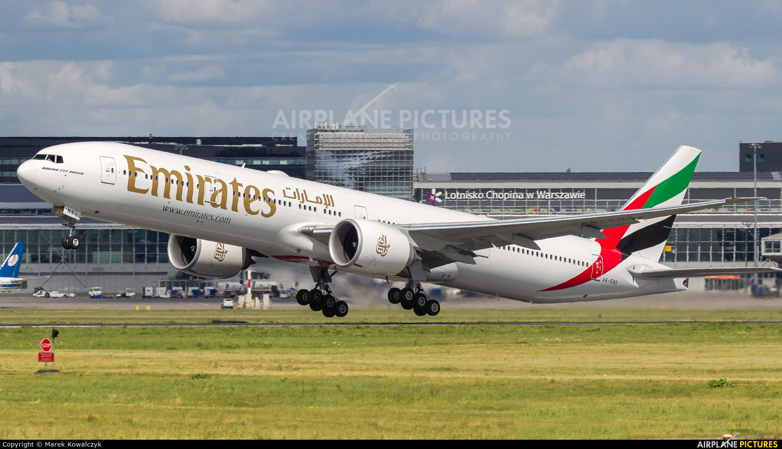 Emirates Airlines A6-ENX aircraft at Warsaw - Frederic Chopin