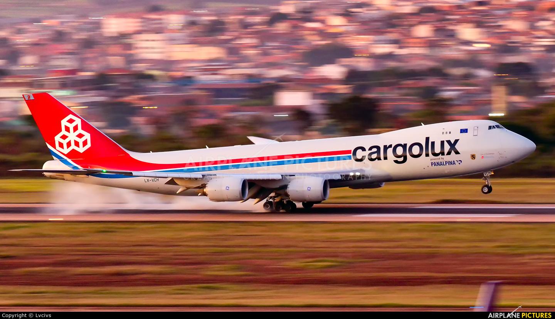 Cargolux LX-VCH aircraft at Campinas - Viracopos Intl