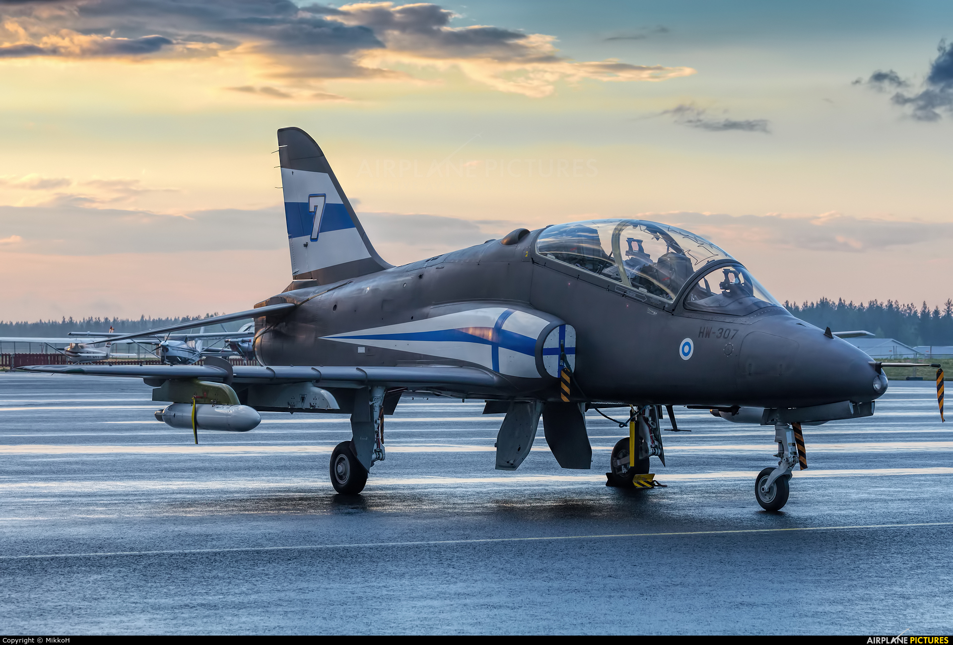 Finland - Air Force: Midnight Hawks HW-307 aircraft at Seinäjoki Airport