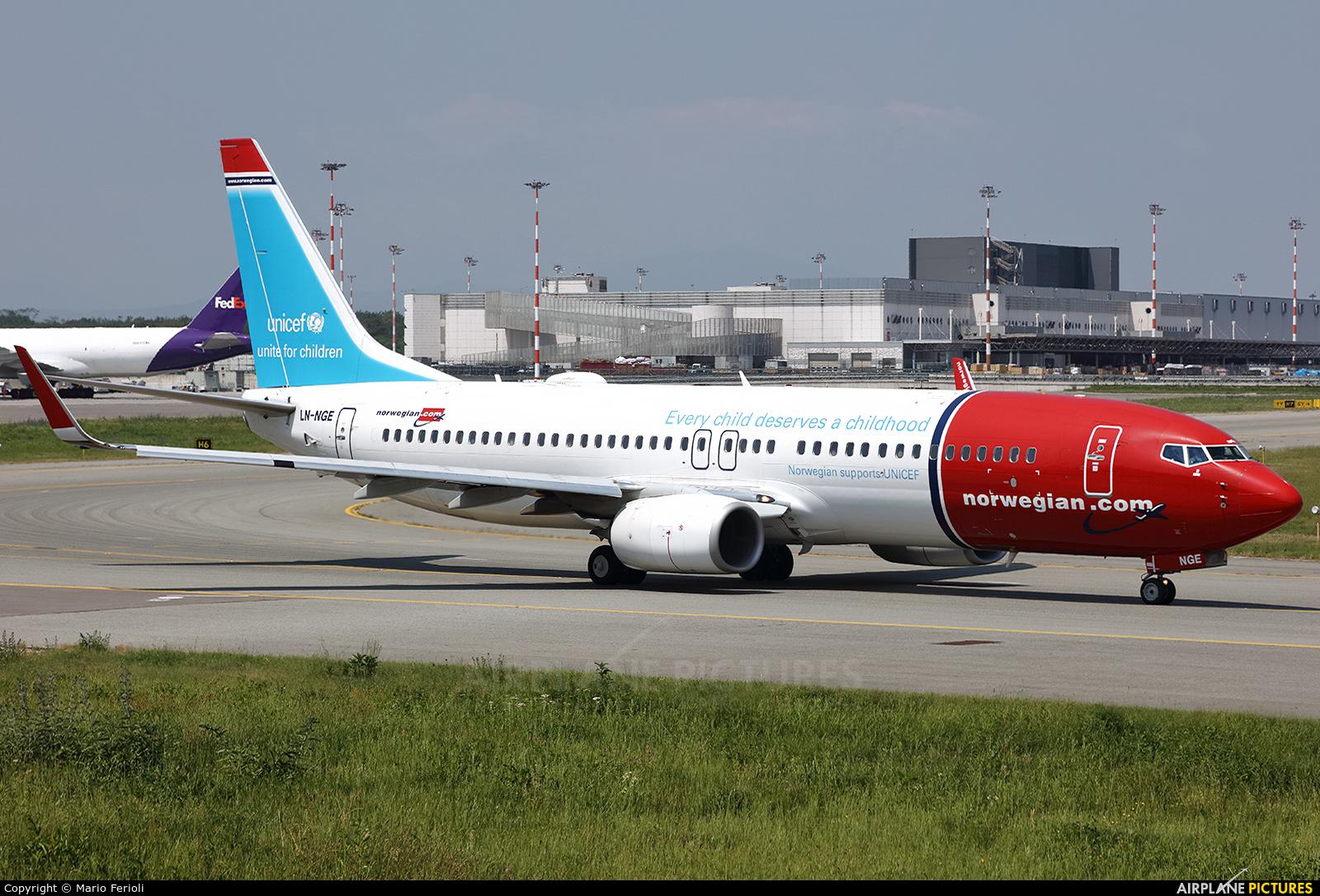 Norwegian Air Shuttle LN-NGE aircraft at Milan - Malpensa