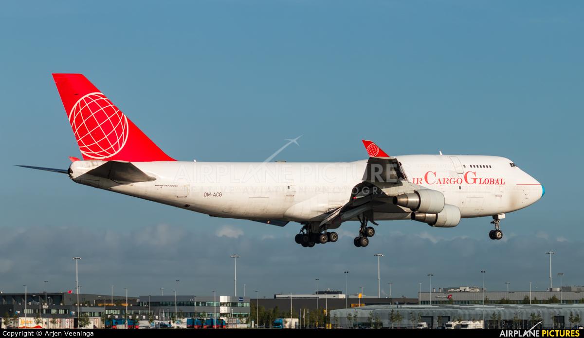 Air Cargo Global OM-ACG aircraft at Amsterdam - Schiphol