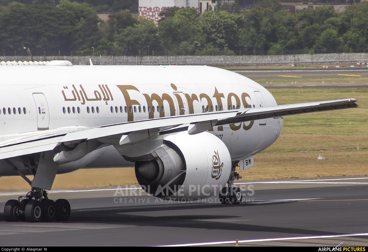 Emirates Airlines A6-EBM aircraft at Mumbai - Chhatrapati Shivaji Intl