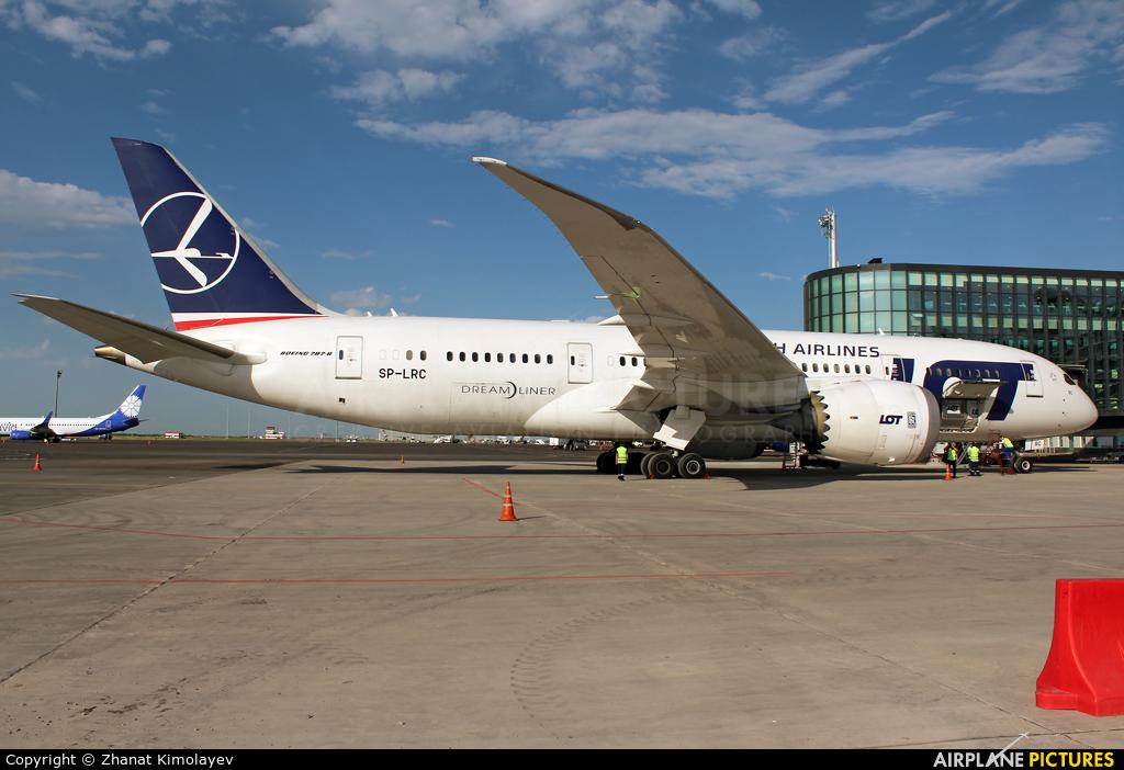 LOT - Polish Airlines SP-LRC aircraft at Astana