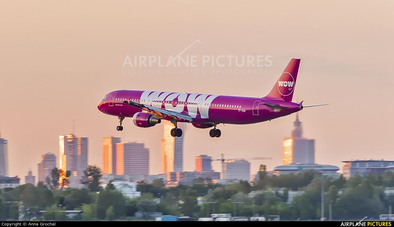 WOW Air TF-SON aircraft at Warsaw - Frederic Chopin