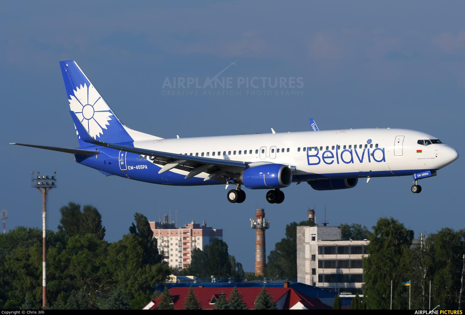 Belavia EW-455PA aircraft at Kyiv - Borispol