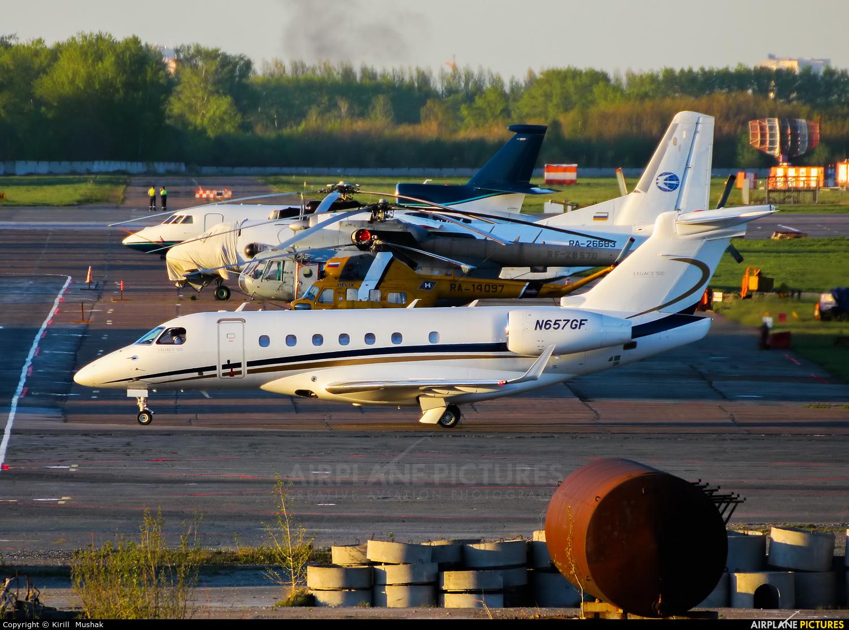 Private N657GF aircraft at Bolshoe Savino - Perm