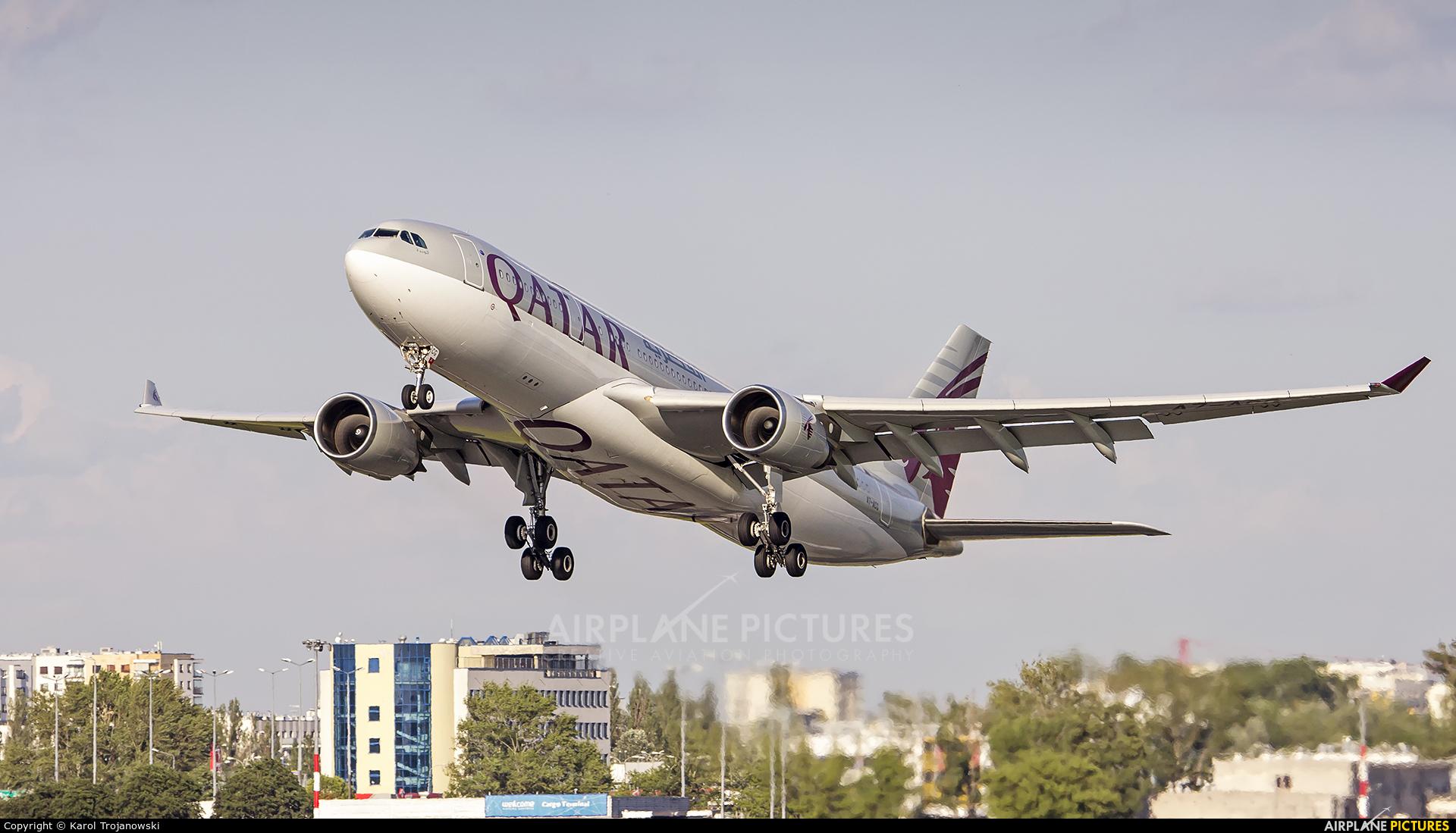 Qatar Airways A7-ACG aircraft at Warsaw - Frederic Chopin