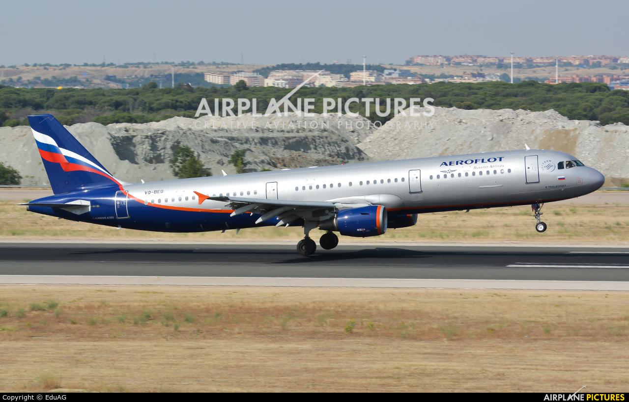 Aeroflot VQ-BEG aircraft at Madrid - Barajas