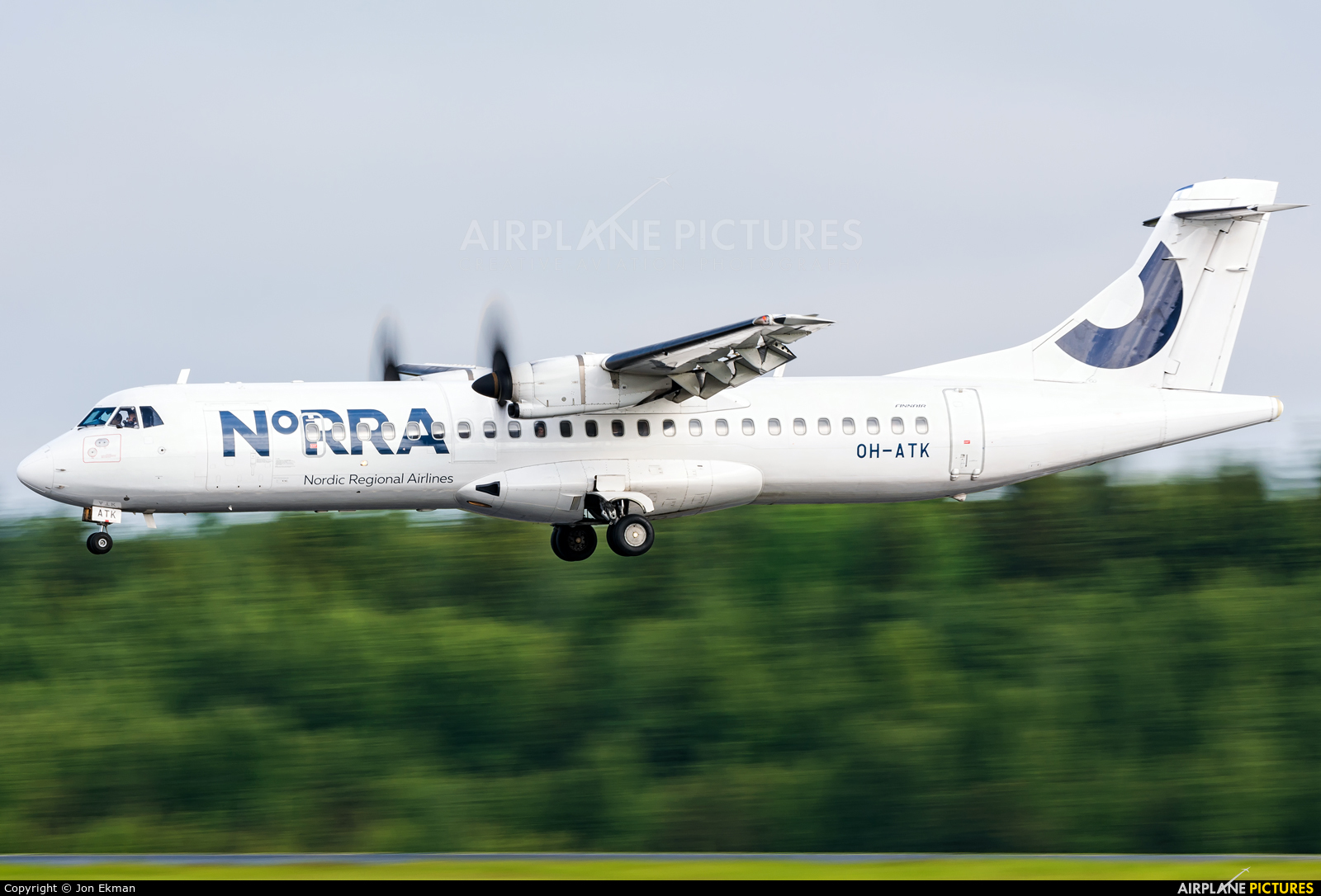 NoRRA - Nordic Regional Airlines OH-ATK aircraft at Helsinki - Vantaa