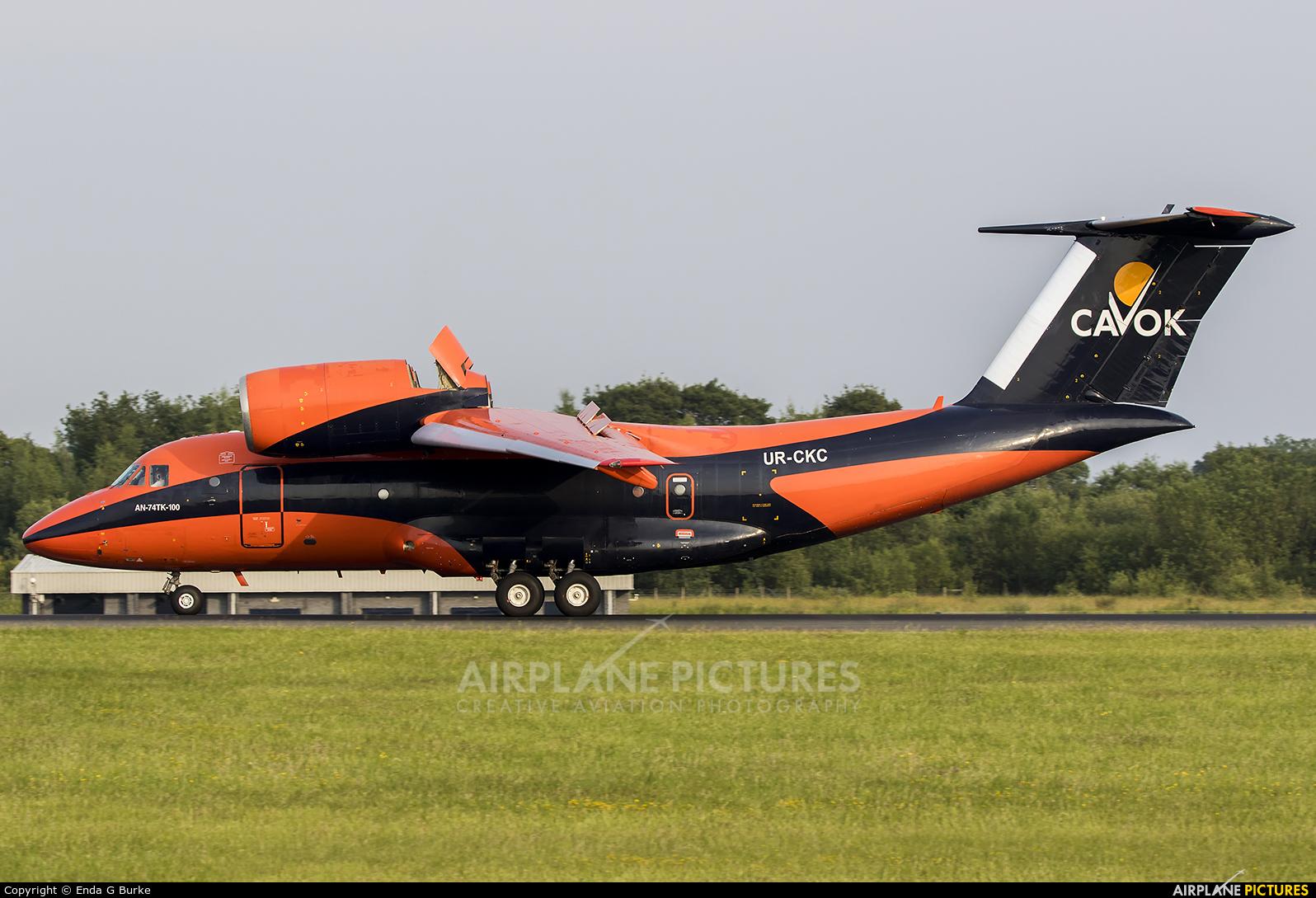 Cavok Air UR-CKC aircraft at Manchester