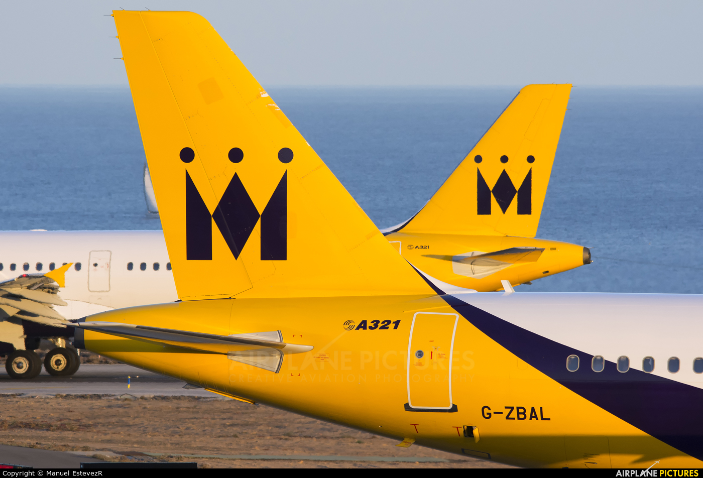 Monarch Airlines G-ZBAL aircraft at Tenerife Sur - Reina Sofia