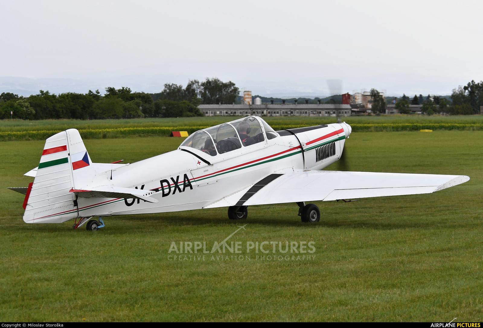 Aeroklub Luhačovice OK-DXA aircraft at Jaroměř - Josefov