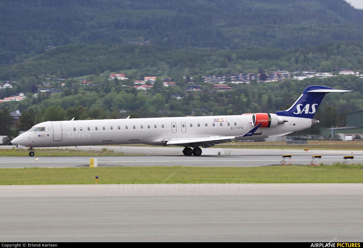 SAS - Scandinavian Airlines EI-FPO aircraft at Trondheim - Vaernes