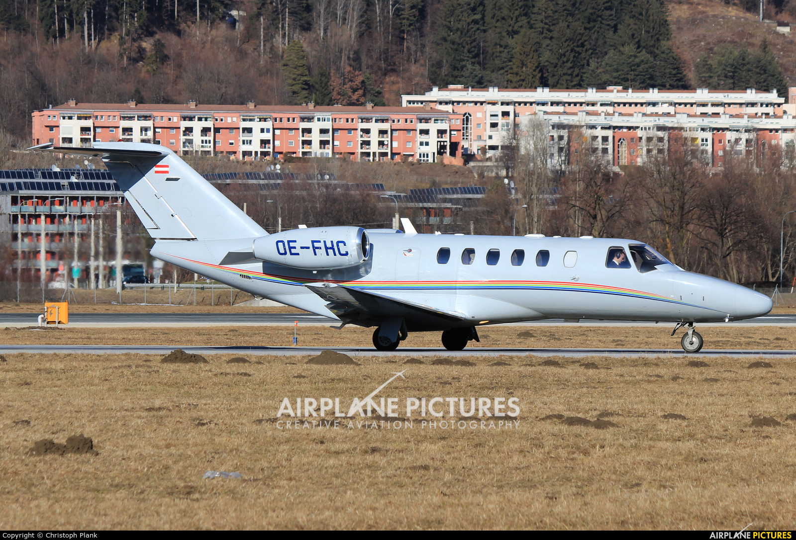 Avcon Jet OE-FHC aircraft at Innsbruck