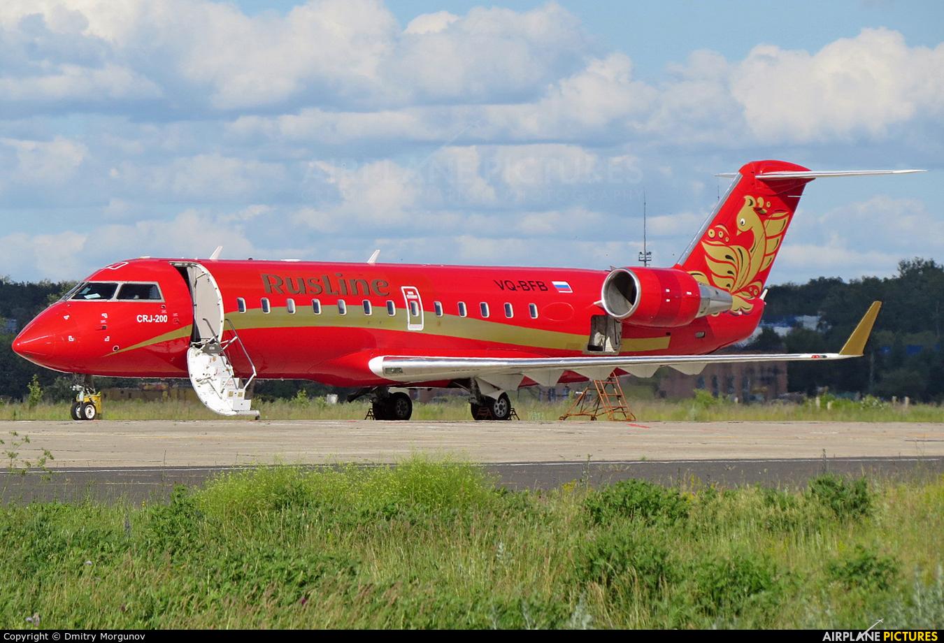 Rusline VQ-BFB aircraft at Kursk Vostochny
