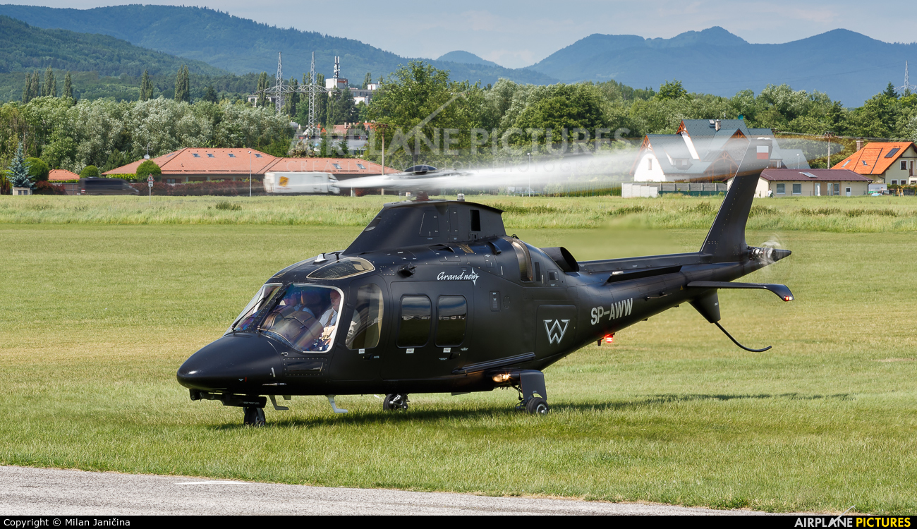 Private SP-AWW aircraft at Prievidza