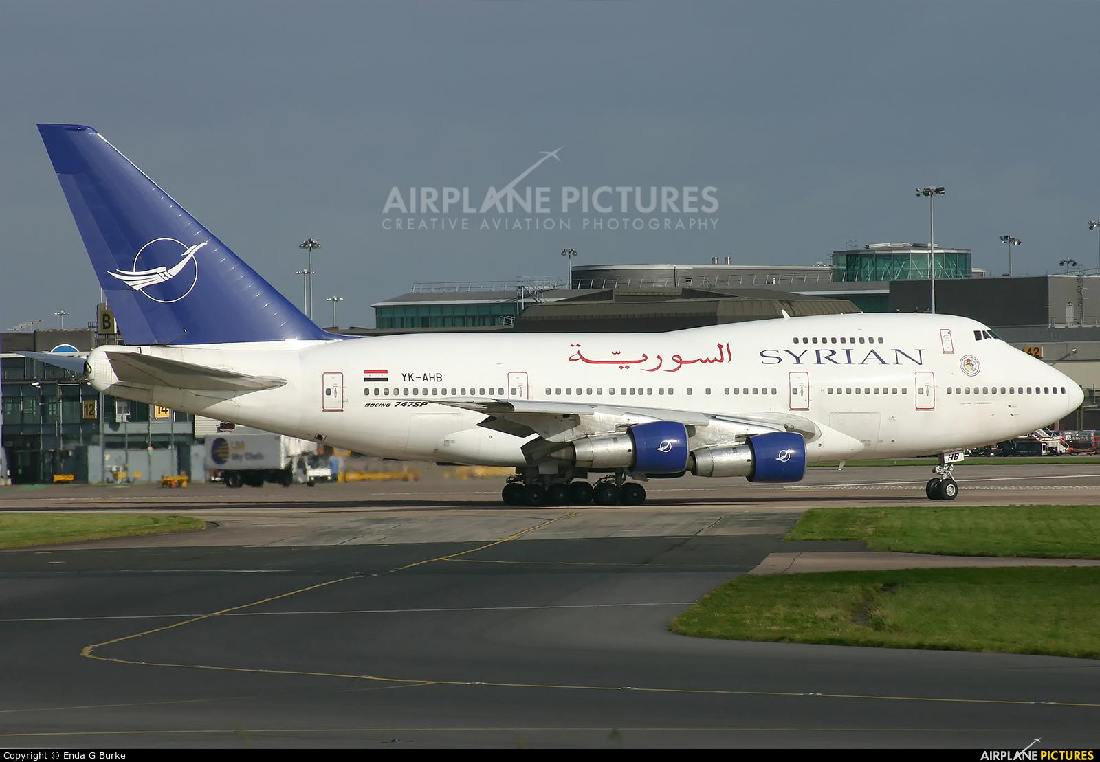 Syrian Air YK-AHB aircraft at Manchester