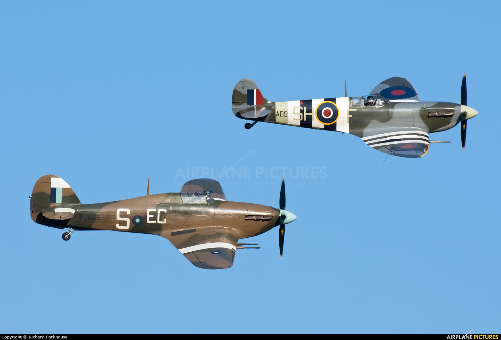 "Royal Air Force ""Battle of Britain Memorial Flight"" PZ865 aircraft at Old Warden"
