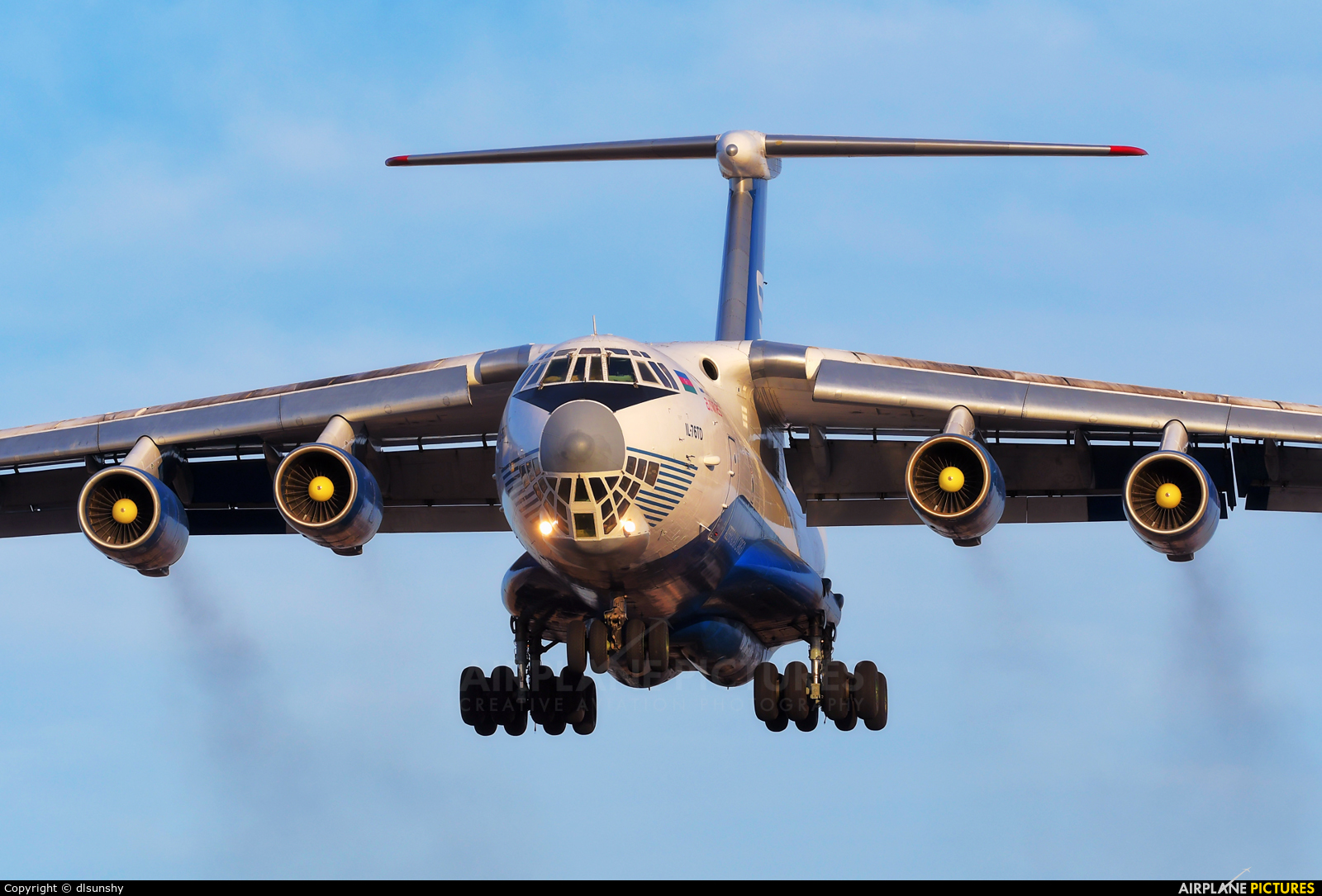 Silk Way Airlines 4K-AZ40 aircraft at Dalian Zhoushuizi Int'l