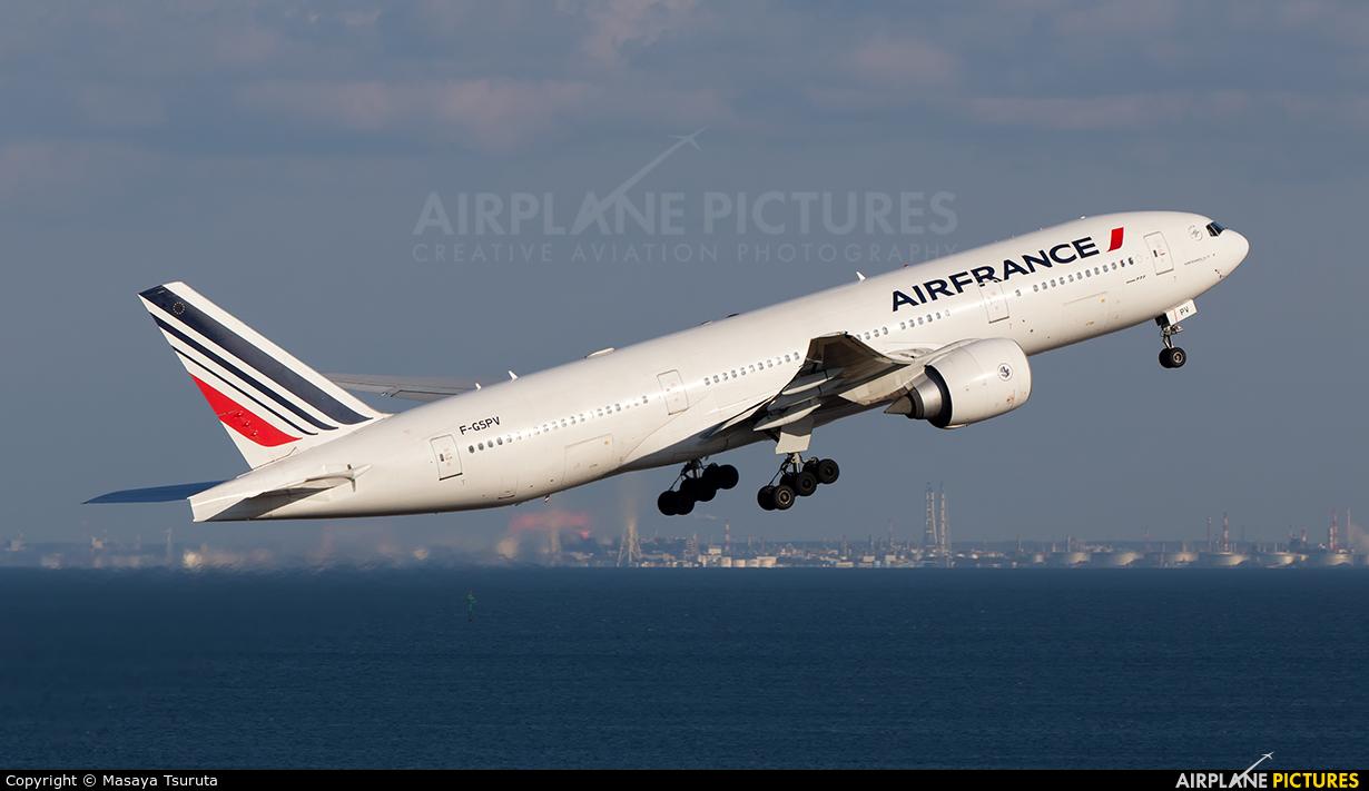 Air France F-GSPV aircraft at Tokyo - Haneda Intl