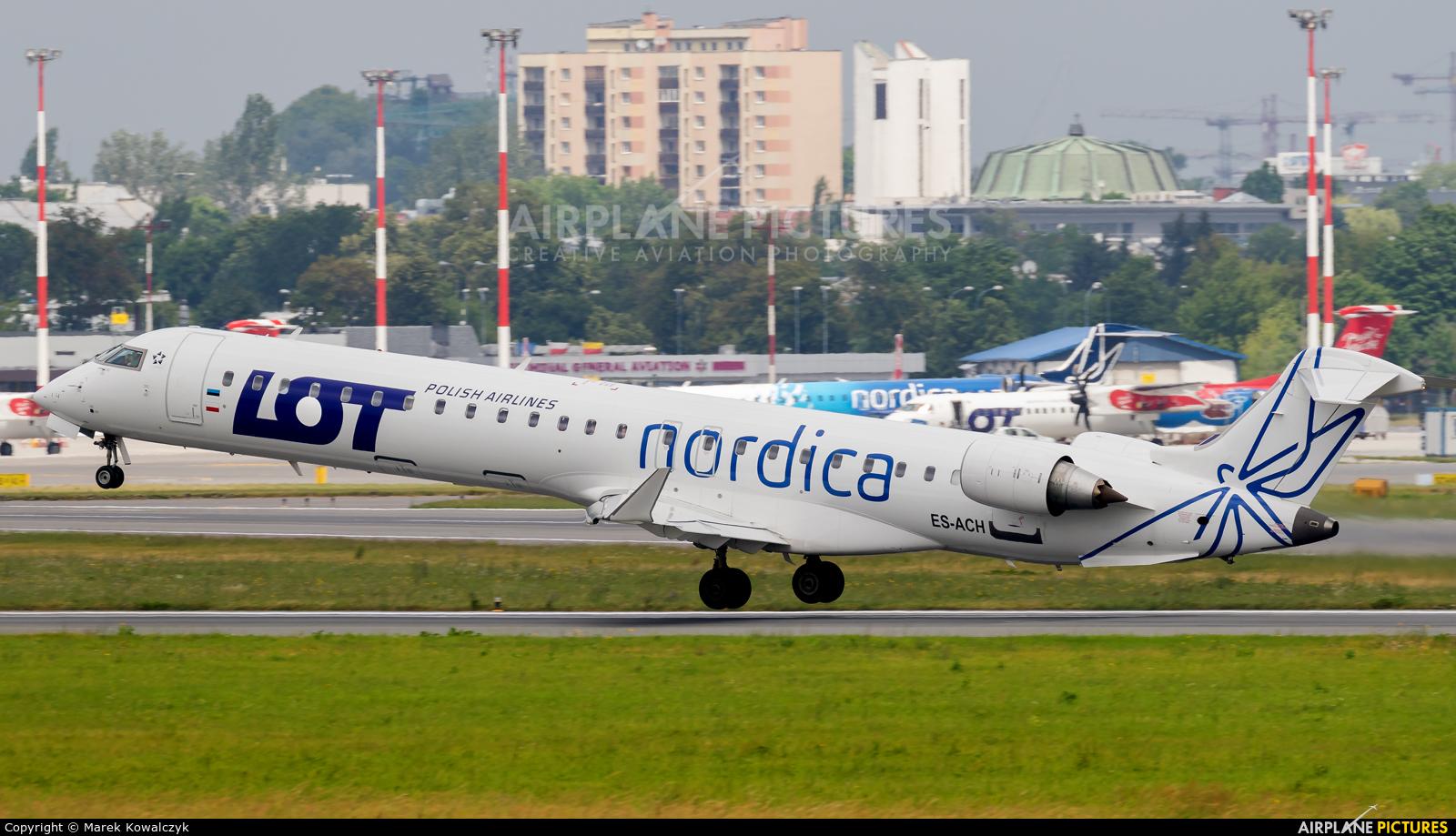 Nordica ES-ACH aircraft at Warsaw - Frederic Chopin