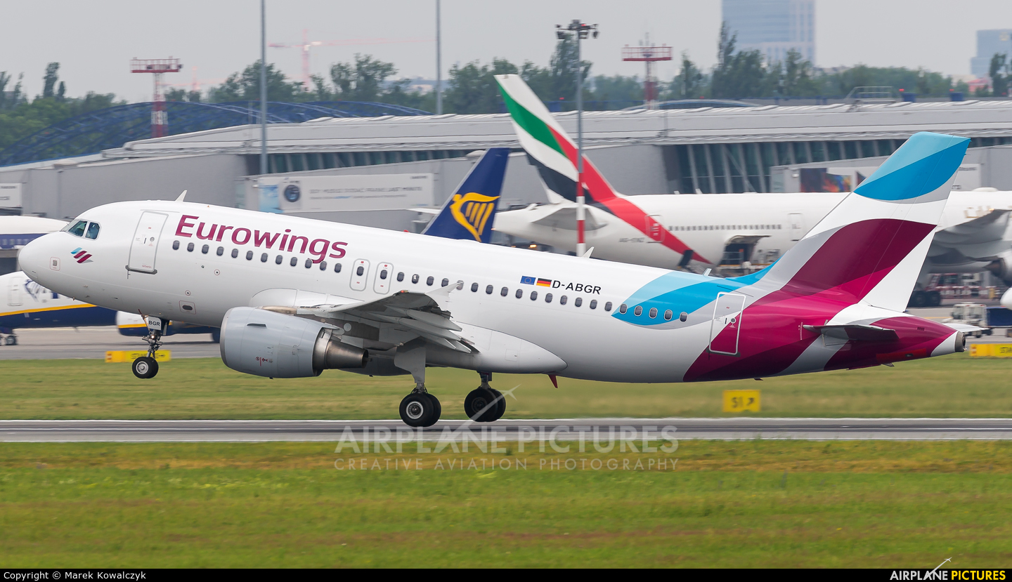 Eurowings D-ABGR aircraft at Warsaw - Frederic Chopin