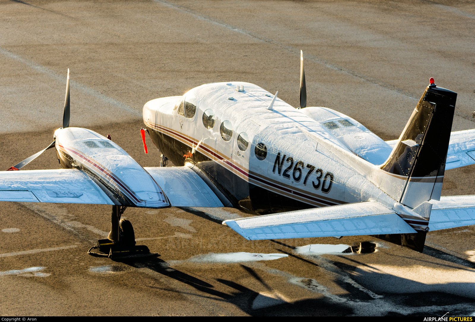 Private N2673D aircraft at Eindhoven