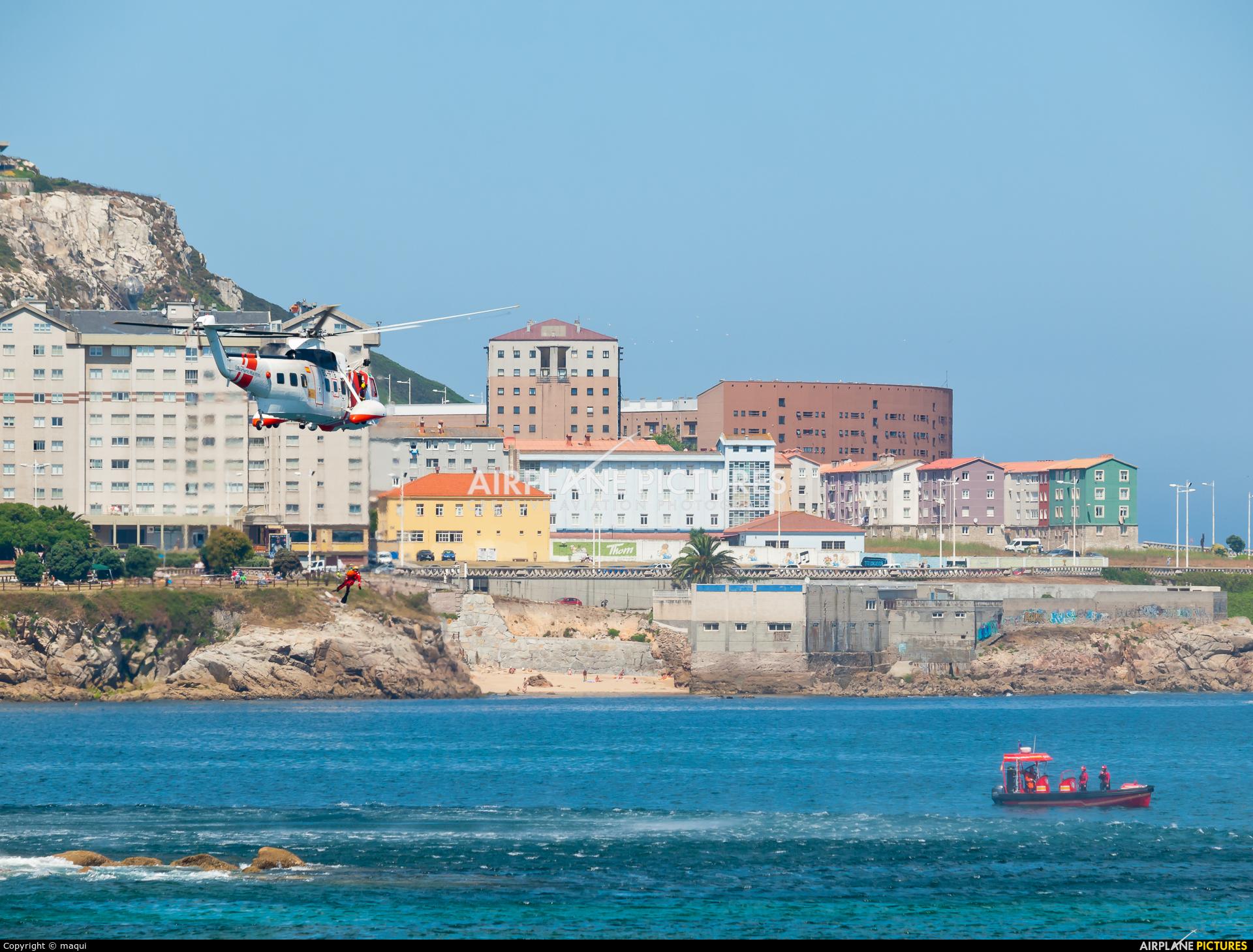 Spain - Coast Guard EC-FTB aircraft at La Coruña - Orzan Bay