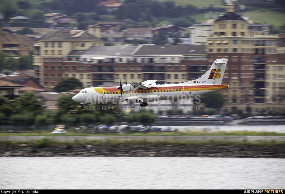 Air Nostrum - Iberia Regional EC-LQV aircraft at San Sebastian