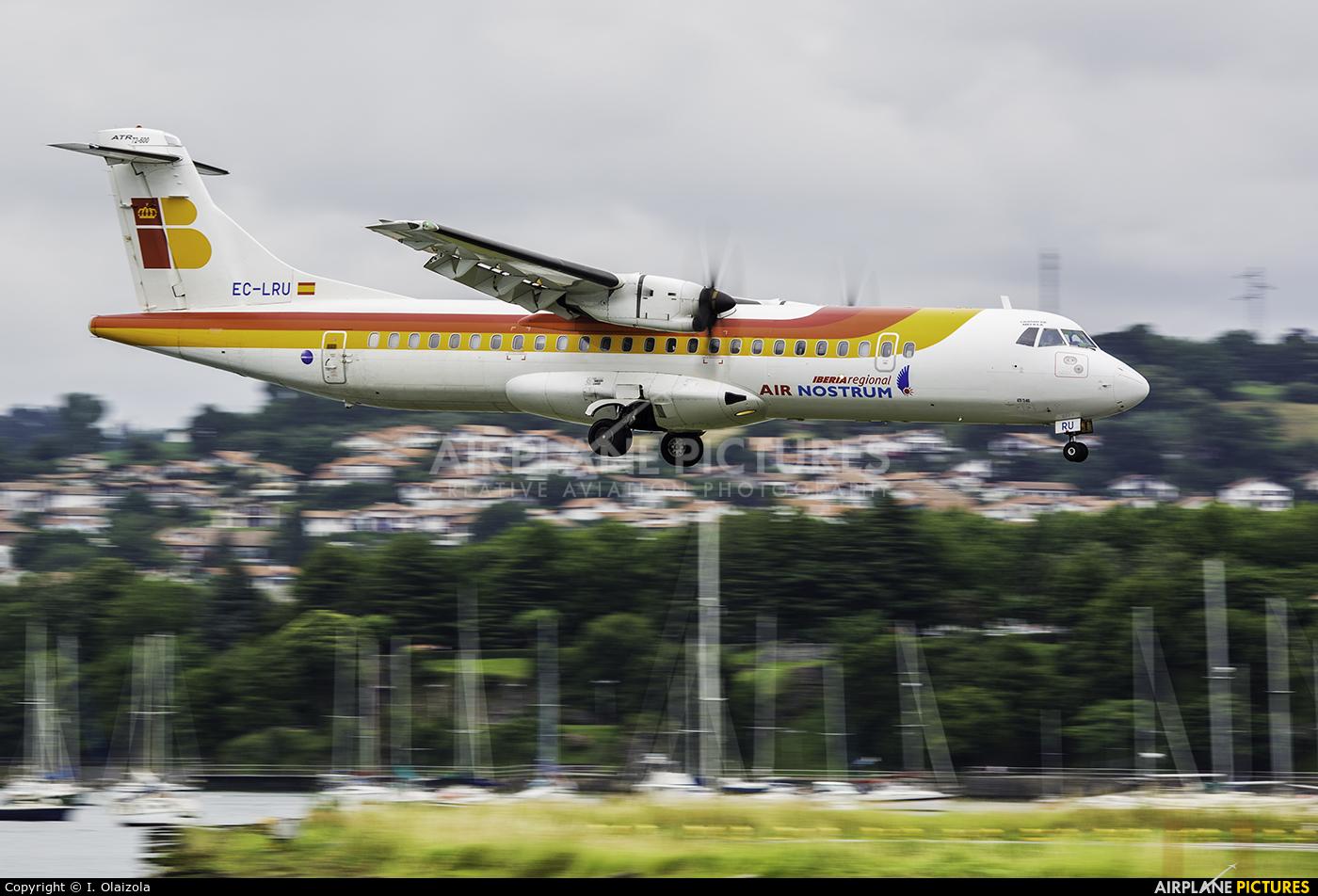 Air Nostrum - Iberia Regional EC-LRU aircraft at San Sebastian