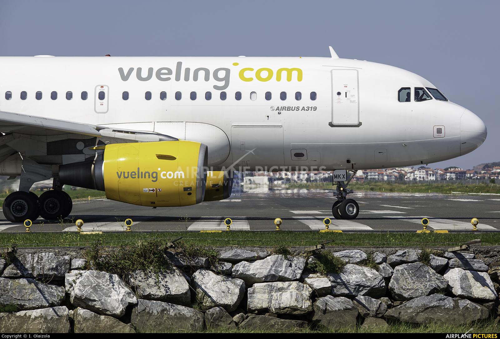 Vueling Airlines EC-MKX aircraft at San Sebastian