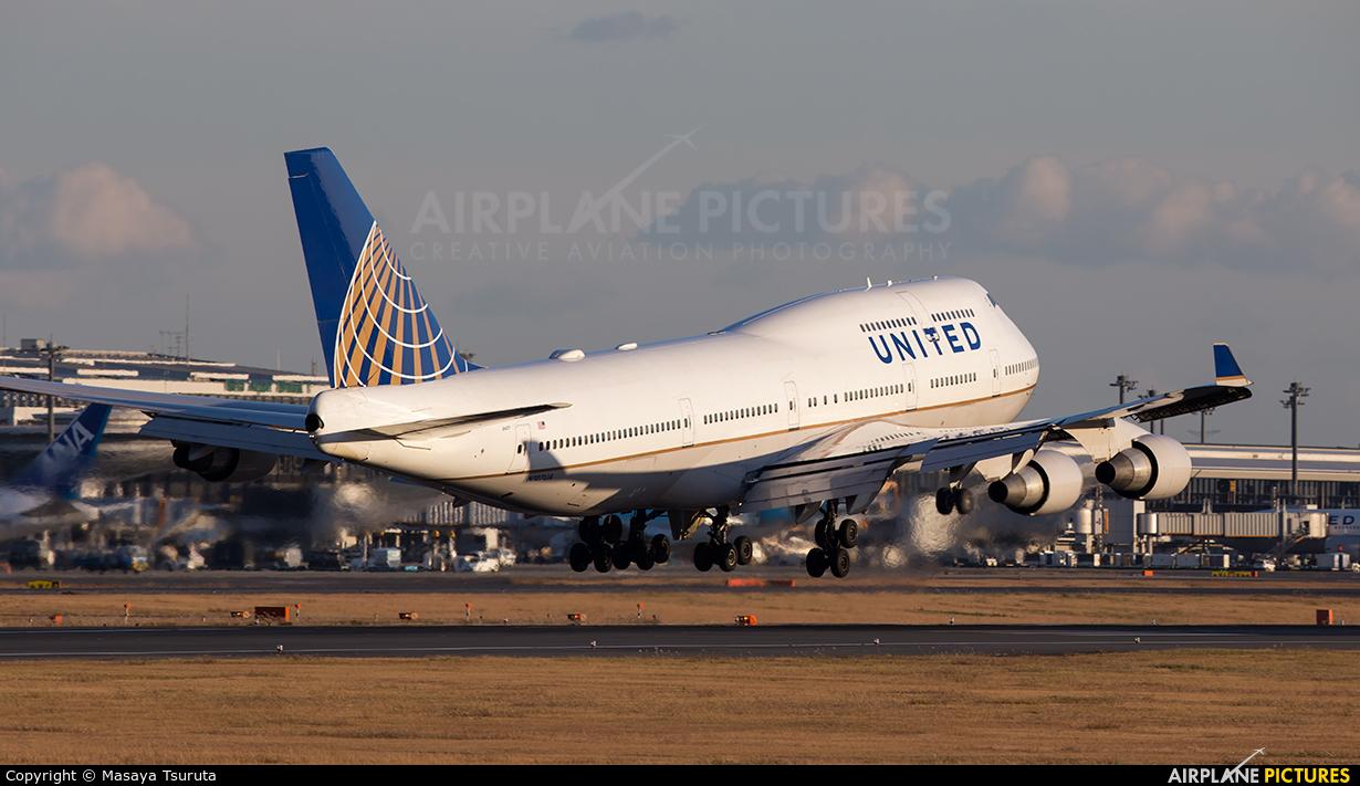 United Airlines N107UA aircraft at Tokyo - Narita Intl
