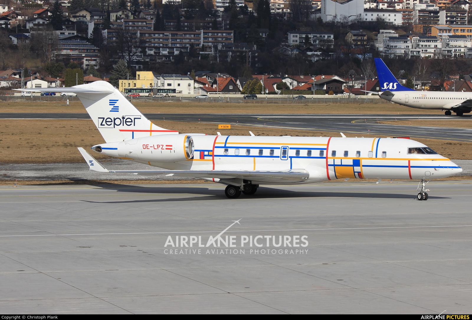 International Jet Management OE-LPZ aircraft at Innsbruck