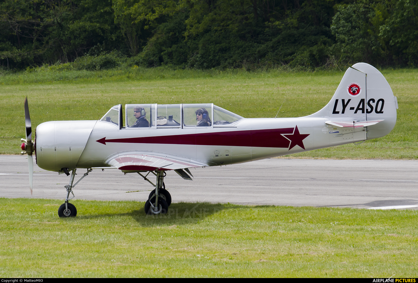 Private LY-ASQ aircraft at Alzate Brianza