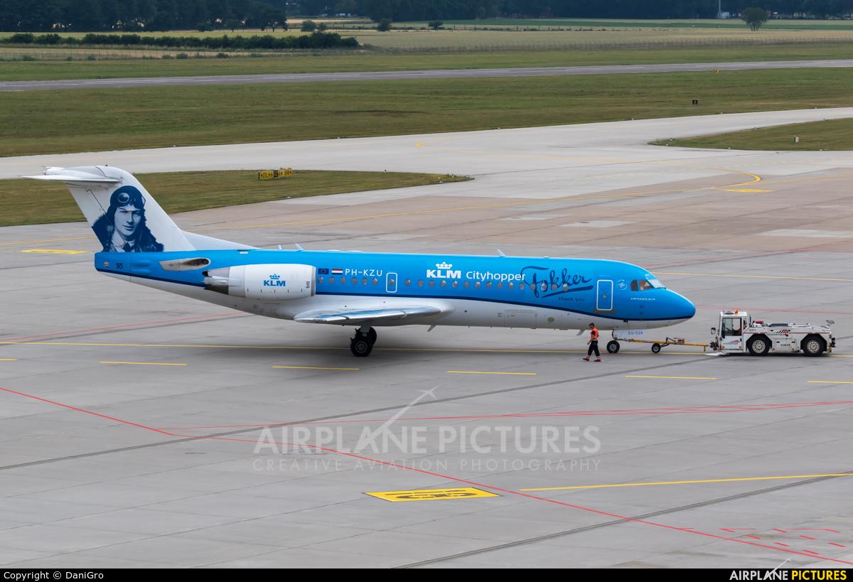 KLM Cityhopper PH-KZU aircraft at Hannover - Langenhagen