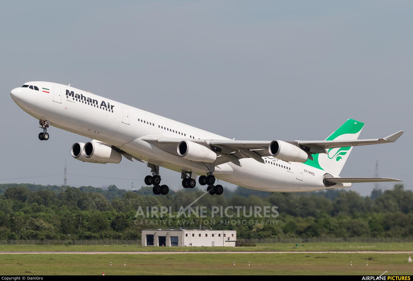 Mahan Air EP-MMD aircraft at Düsseldorf