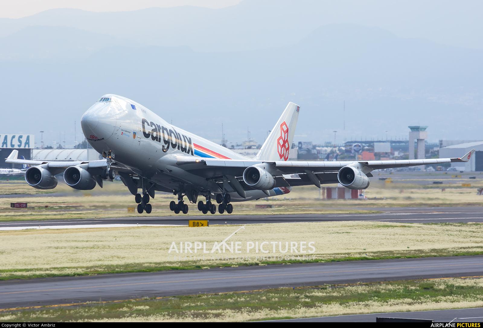 Cargolux LX-VCV aircraft at Mexico City - Licenciado Benito Juarez Intl