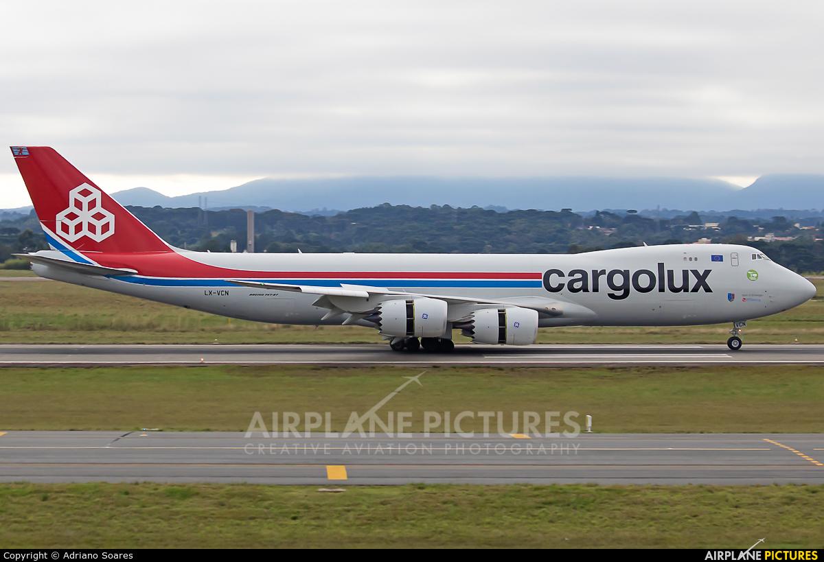 Cargolux LX-VCN aircraft at Curitiba -  Afonso Pena